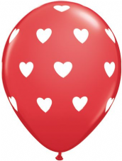 Big Hearts Red Balloons 6 Pack